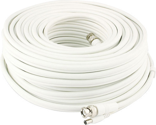 Swann - Advanced-Series Power/Video Cable Kit - White