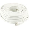 Swann - Pro-Series 200' In-Wall BNC-to-BNC/BNC-to-DC Coaxial Video and Power Cable - White
