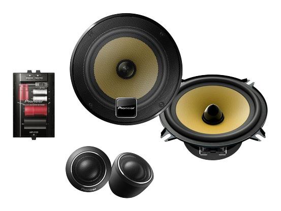 Pioneer - D-Series 5.25 2-Way Component Car Speakers with Twaron Woofer Cones (Pair) - Black
