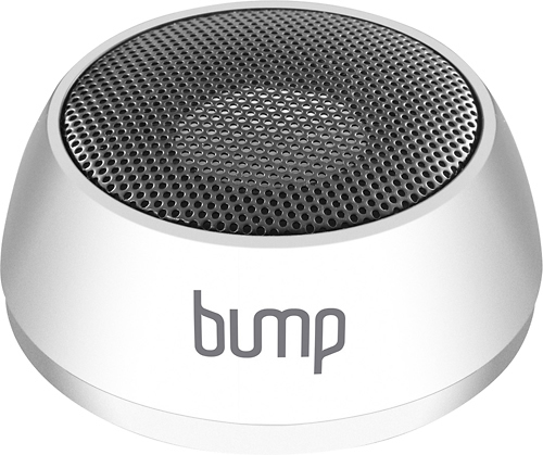 Aluratek - Bump Portable Speaker for Most Bluetooth-Enabled Devices