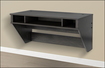 Prepac - Designer Floating Desk - Washed Ebony