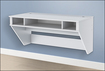 Prepac - Designer Floating Desk - White