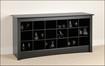 Prepac - Shoe-Storage Cubby Bench - Black