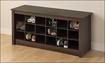 Prepac - Shoe-Storage Cubby Bench - Espresso
