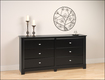 Prepac - Kallisto 6-Drawer Dresser - Black