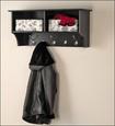 """Prepac - 36"""" Entryway Cubby Shelf - Black"""