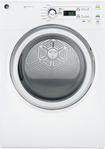 GE - 7.0 Cu. Ft. 7-Cycle Electric Dryer - White-on-White