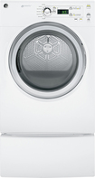 GE - 7.0 Cu. Ft. 7-Cycle Gas Dryer - White-on-White