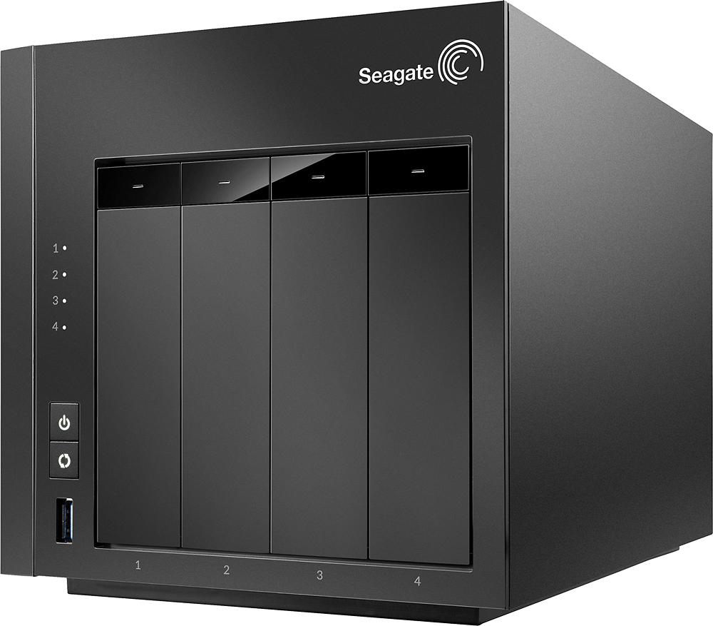 Seagate - NAS 16TB 4-Bay Network Storage - Black