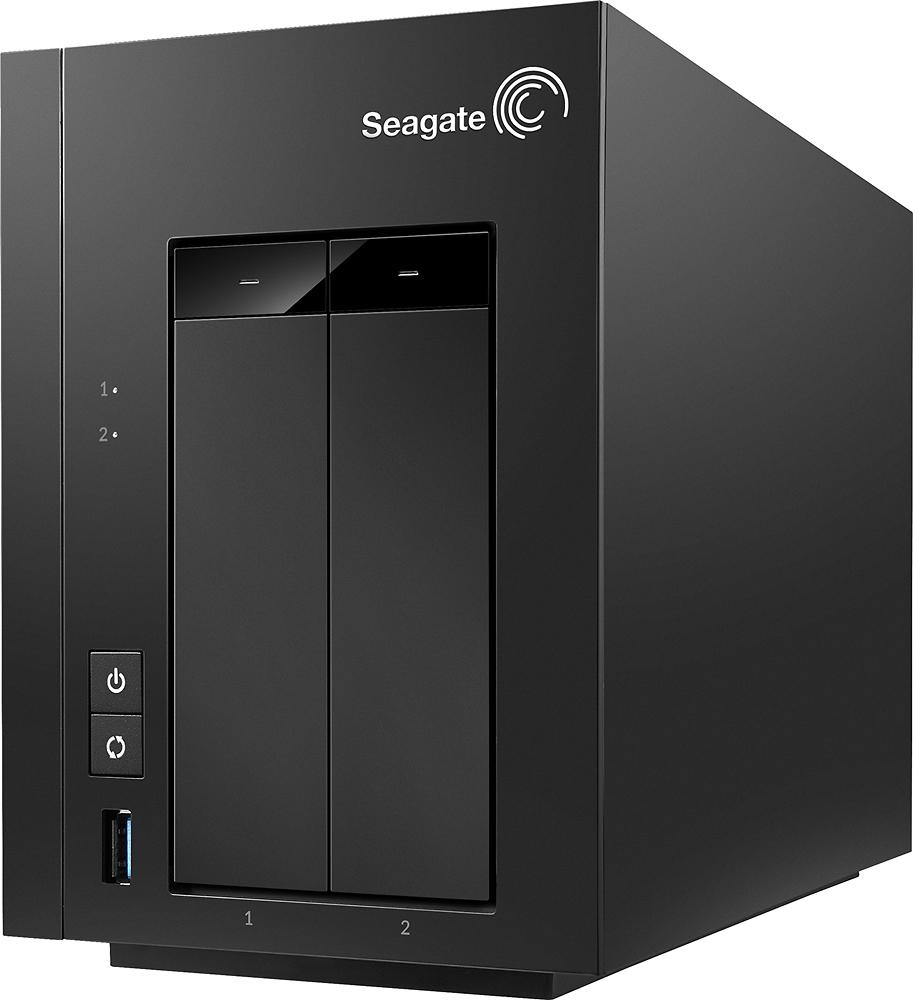 Seagate - NAS 8TB 2-Bay Network Storage - Black