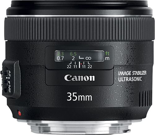 Canon - EF 35mm f/2 IS USM Wide-Angle Lens - Black