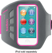 Belkin - Ease-Fit Plus Armband for 7th-Generation Apple® iPod® nano - Gray/Pink