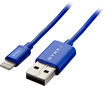 Dynex™ - 3' USB-to-Lightning Charge-and-Sync Cable - Sapphire