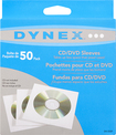 Dynex™ - 50-Pack CD/DVD Sleeves - White