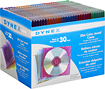 Dynex™ - 30-Pack Color Slim Jewel Cases - Assorted
