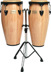 """Tycoon Percussion - Supremo Series 10"""" and 11"""" Conga Set - Brown"""