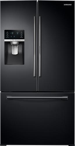 Samsung - 27.8 Cu. Ft. French Door Refrigerator - Black