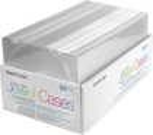 Memorex - 50-Pack Slim Jewel Cases - Clear