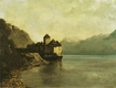 Trademark Art - Chateau de Chillon by Gustave Courbet - Green