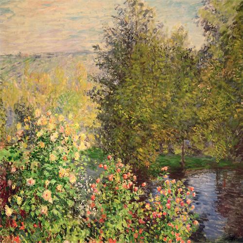 Trademark Art - The Hoschedés' Garden at Montgeron by Claude Monet - Green