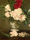Trademark Art - Peonies in a Vase by Édouard Manet - Multi