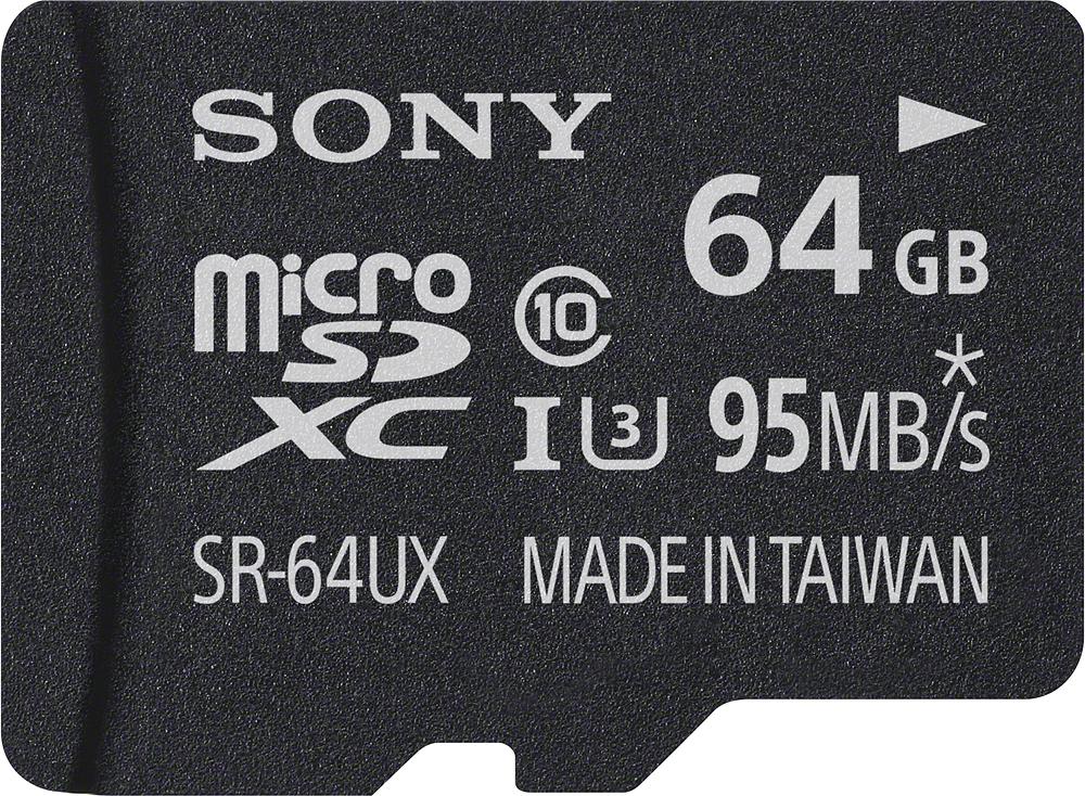 Sony - 64GB MicroSDXC Class 10 Memory Card - Black
