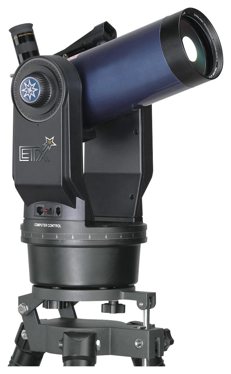 Meade - ETX-90 1250mm Maksutov-Cassegrain Telescope with AutoStar Computer Controller - Black/Blue