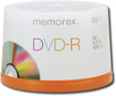 Memorex - 50-Pack 16x DVD-R Disc Spindle - White