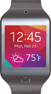 Samsung - Geek Squad Certified Refurbished Gear 2 Neo Smart Watch with Heart Rate Monitor - Mocha Gray