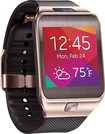 Samsung - Geek Squad Certified Refurbished Gear 2 Smartwatch with Heart Rate Monitor - Gold/Brown