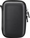 Insignia™ - Deluxe Hard Shell Case for Most Portable Hard Drives - Black