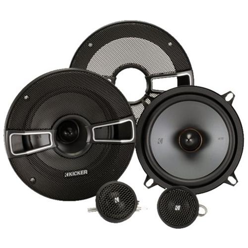 Kicker - KS Series 5.25 2-Way Component Car Speakers with Polypropylene Cones (Pair) - Gray