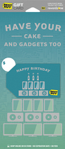 Best Buy GC - $60 Have Your Cake and Gadgets Too Gift Card - Multi
