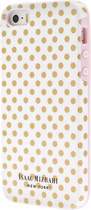 Isaac Mizrahi New York - Mini Dot Case for Apple® iPhone® 5 and 5s - White/Gold