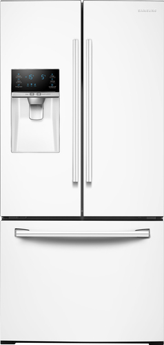 Samsung - 25.5 Cu. Ft. French Door Refrigerator - White