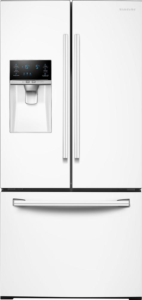 Samsung - 25.5 Cu. Ft. French Door Refrigerator - White