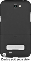 Platinum Series - Kickstand Case for Samsung Galaxy Note II Mobile Phones - Black