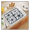 "GE - Profile 30"" Built-in Gas Cooktop - White"