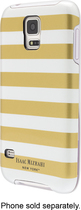Isaac Mizrahi New York - Case for Samsung Galaxy S 5 Cell Phones - Gold/White
