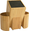 Kapoosh - Kitchen Caddy Knife and Utensil Storage Block - Brown
