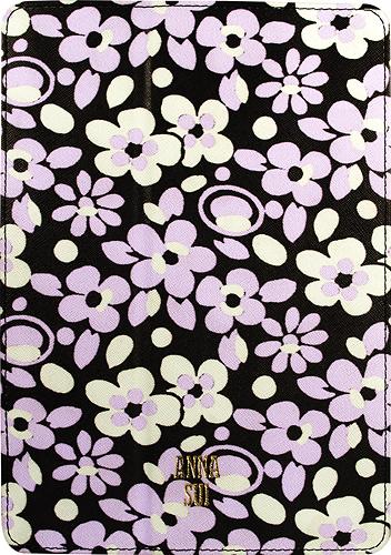 Anna Sui - Pop Flowers Folio Hard Case for Apple® iPad® Air - Black/Purple/White