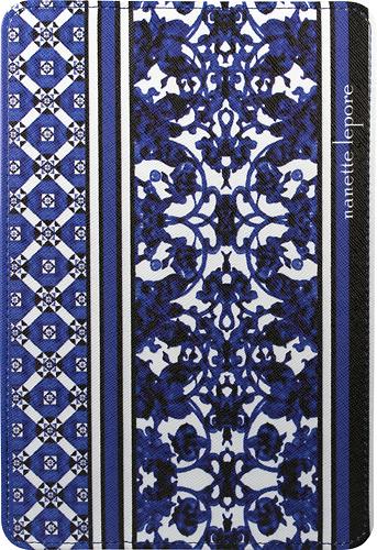 Nanette Lepore - Folio Hard Case for Apple® iPad® mini - Purple/White
