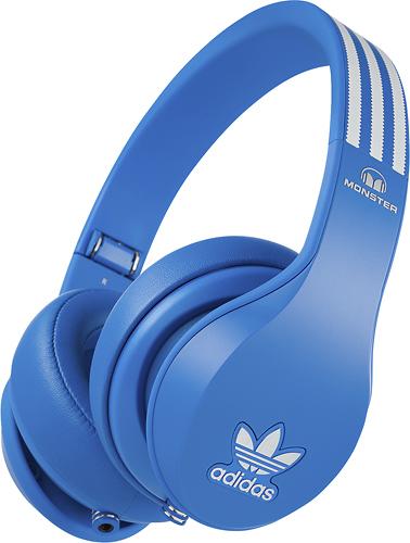 Monster - adidas Originals Over-the-Ear Headphones - Blue/White