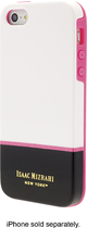Isaac Mizrahi New York - Color Block Case for Apple® iPhone® 5 and 5s - White/Black