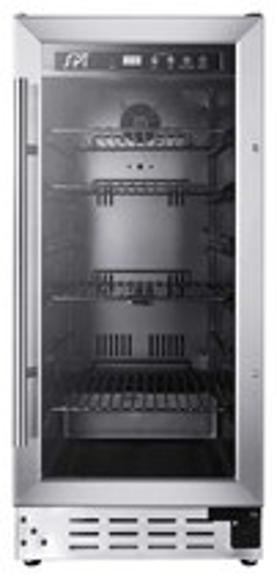 SPT - 92-Can Beverage Cooler - Black/Stainless-Steel