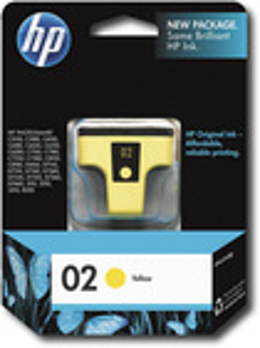 HP - 02 Yellow Original Ink Cartridge - Yellow