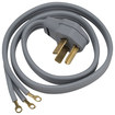 Ge - 4' 3-prong Power Cord For Select Dryers - Gray