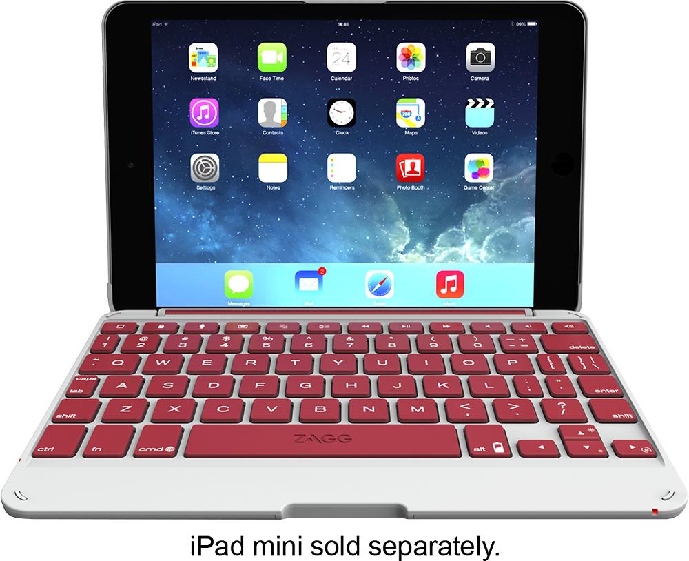 ZAGG - ZAGGfolio Keyboard Case for Apple® iPad® mini - Crimson