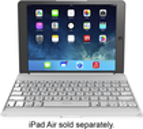 ZAGG - ZAGGfolio Keyboard Case for Apple® iPad® Air - White