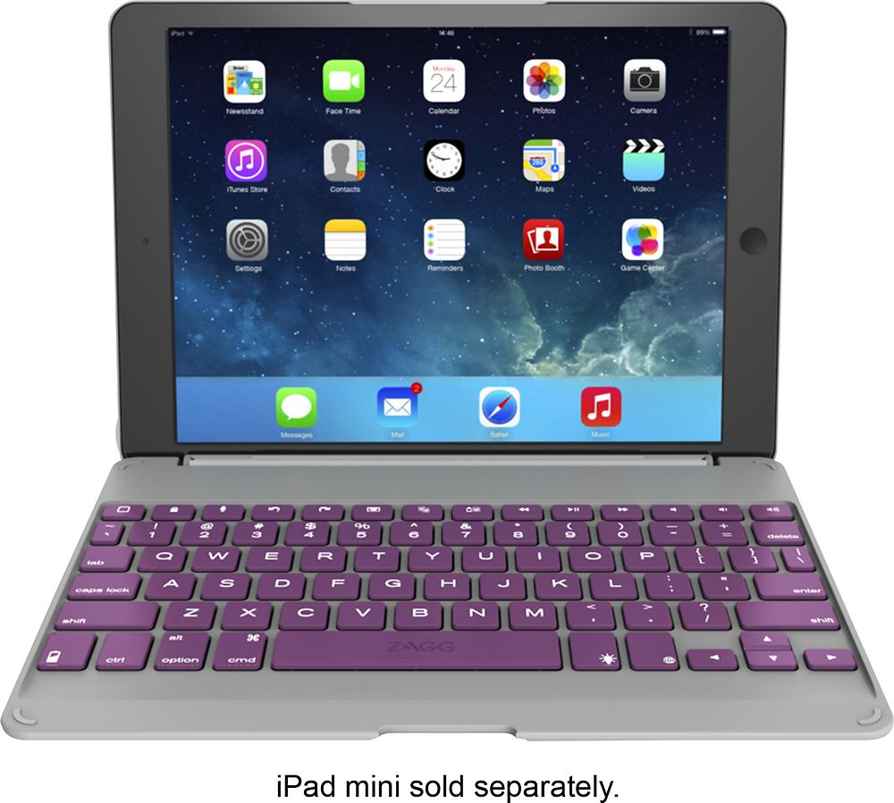 ZAGG - ZAGGfolio Keyboard Case for Apple® iPad® Air - Orchid